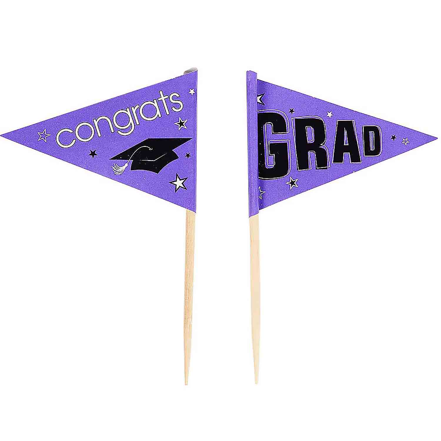 Purple School Pride Graduation Picks