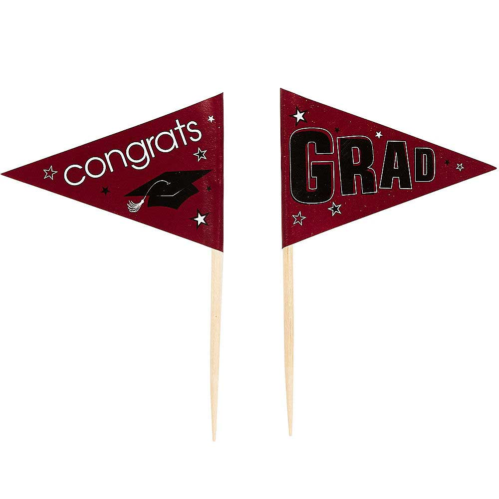 Burgundy School Pride Graduation Picks