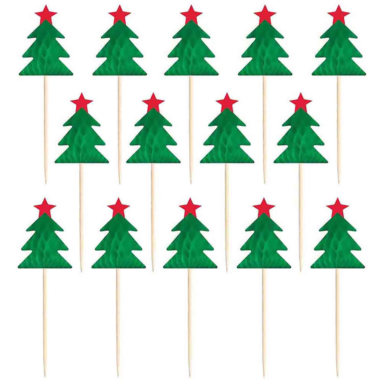 Christmas Tree Honeycomb Picks