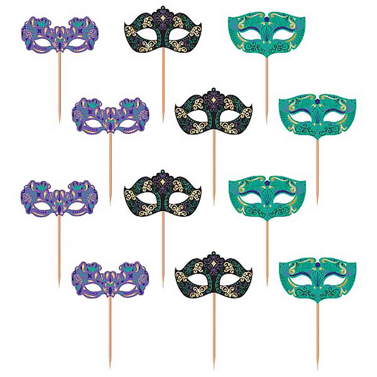Mardi Gras Cake and Cupcake Toppers and Decorations
