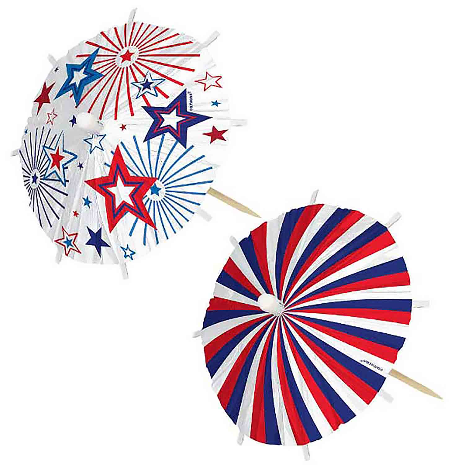 Jumbo Patriotic Umbrella Picks
