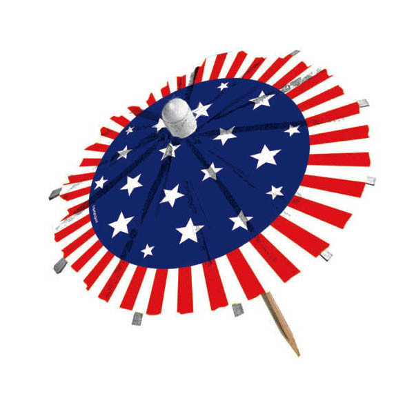 Patriotic Umbrella Picks