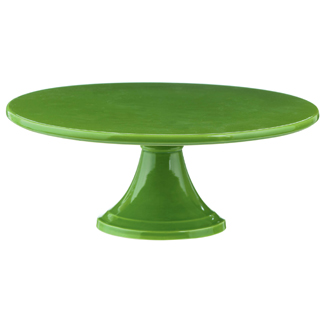 Citrus Green Pedestal Cake Stand