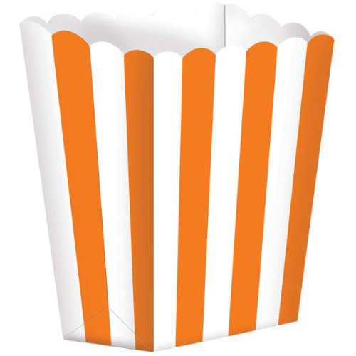 1/2 lb. Orange Stripe Popcorn Style Treat Box