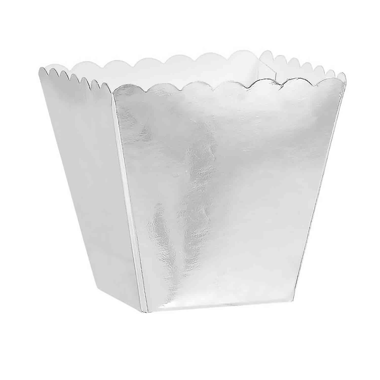 1/8 lb. Silver Favor Box