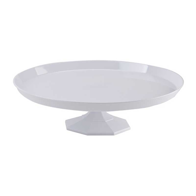 Large White Plastic Cake Stand