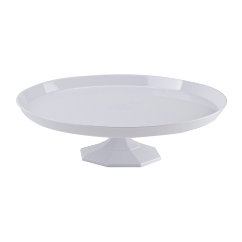 White Plastic Dessert Stand - Medium