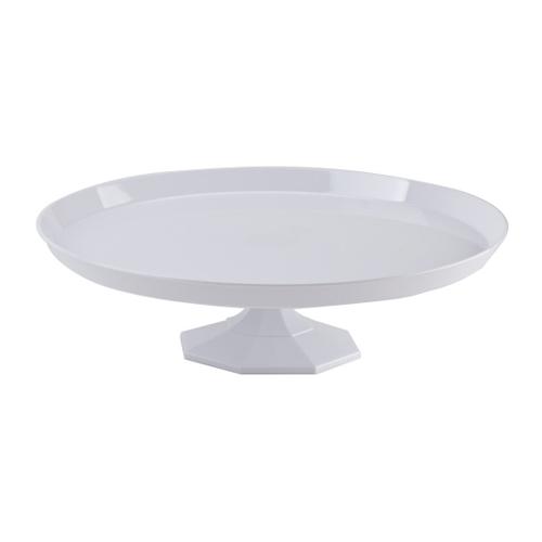 Medium White Plastic Cake Stand