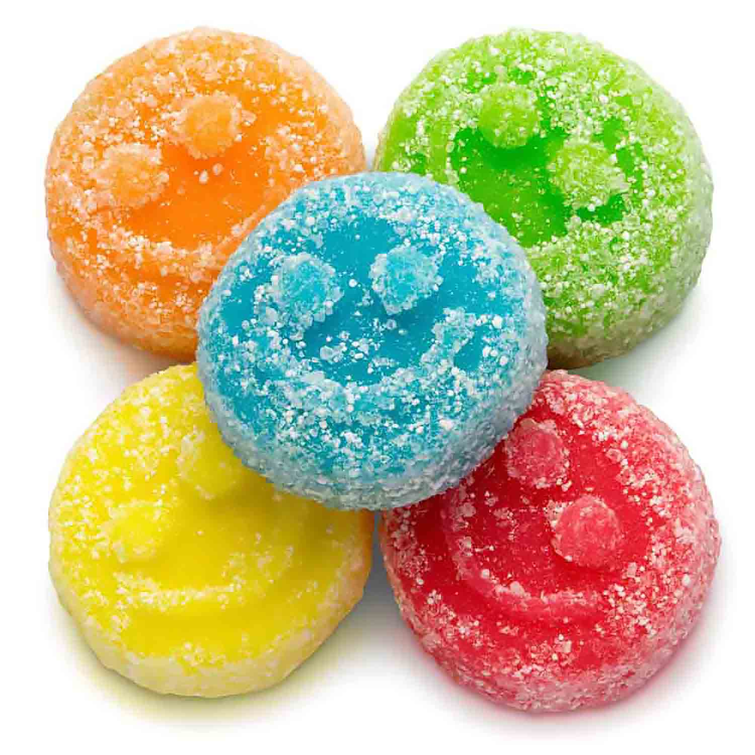Sour Poppers Smiley Face Gummies