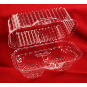 Plastic Shell -Holds 2 Standard Size Cupcakes