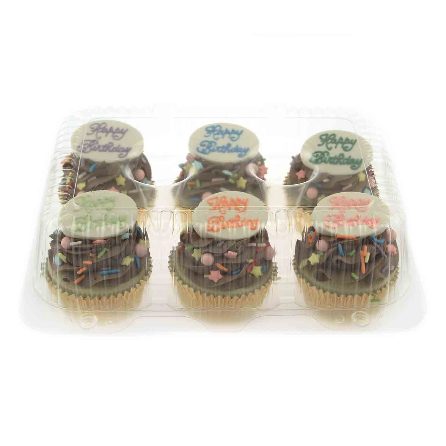 Plastic Shell -Holds 6 Standard Size Cupcakes