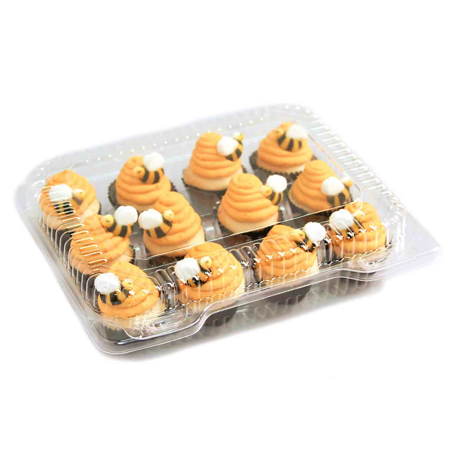 Plastic Shell -Holds 12 Mini Size Cupcakes
