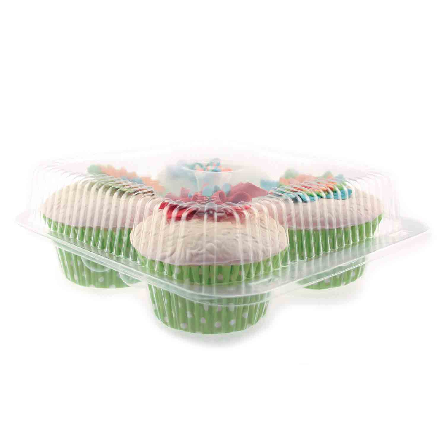 Plastic Shell - Holds 4 Jumbo Size Cupcakes