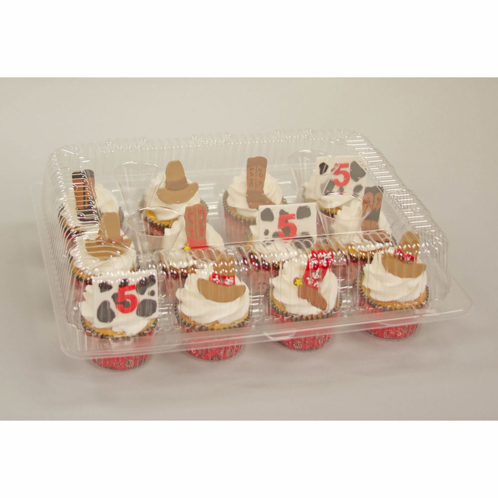 Plastic Shell -Holds 12 Standard Size Cupcakes
