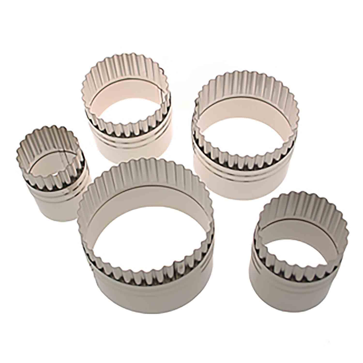 Straight & Fluted Round Cookie Cutter Set