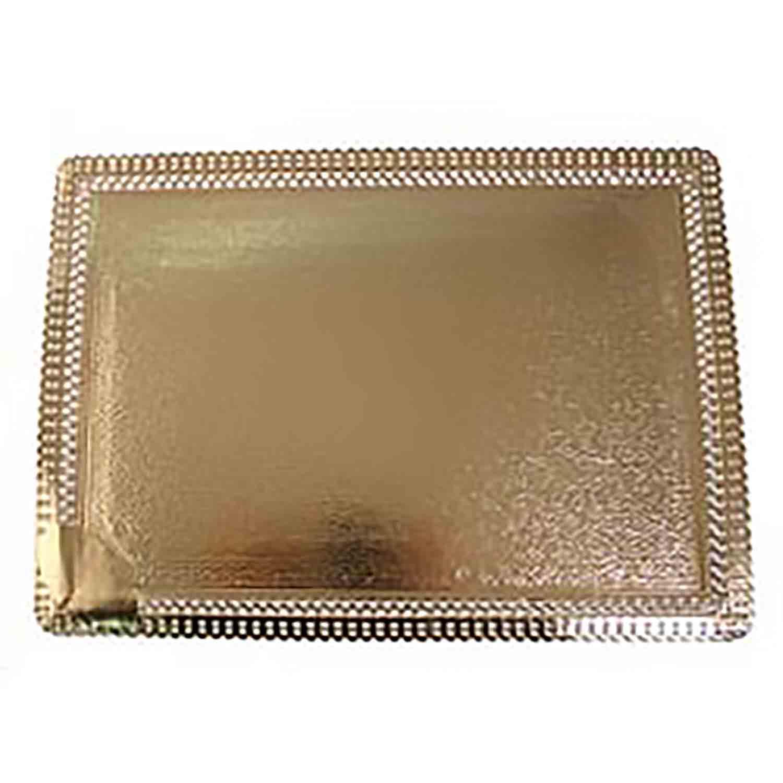 "Gold Cake Board- 8"" x 12"""