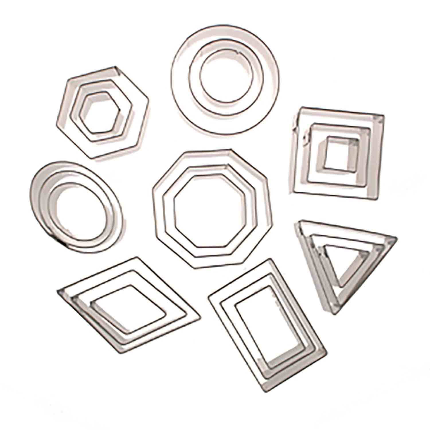 Geometric Shape Cookie Cutter Set