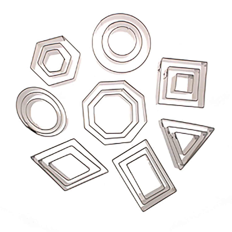 Geometric Shape Cookie Cutter Set