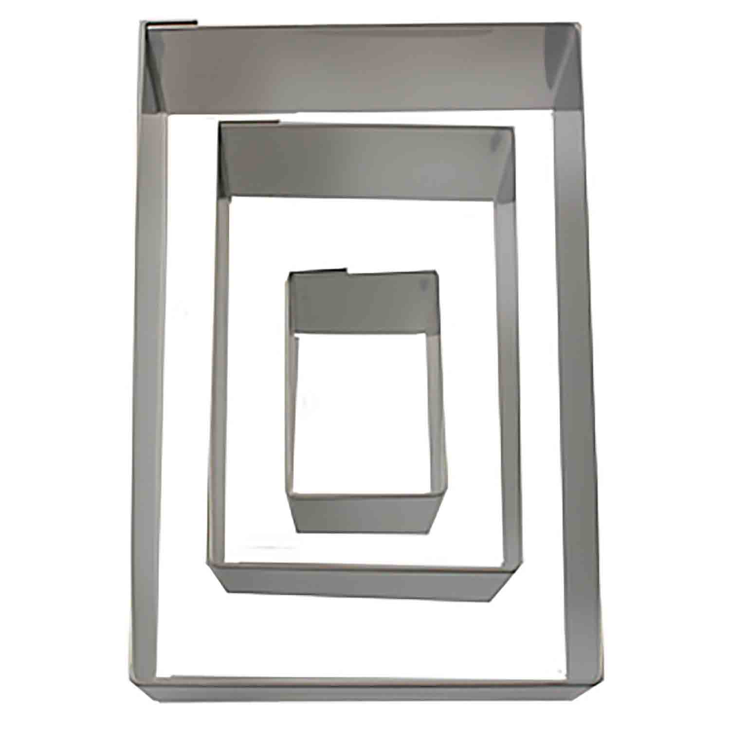 Stainless Steel Rectangle Cookie Cutter Set