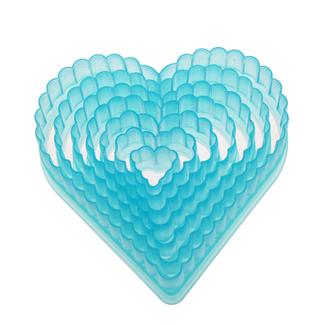 Fluted Heart Plastic Cutter Set