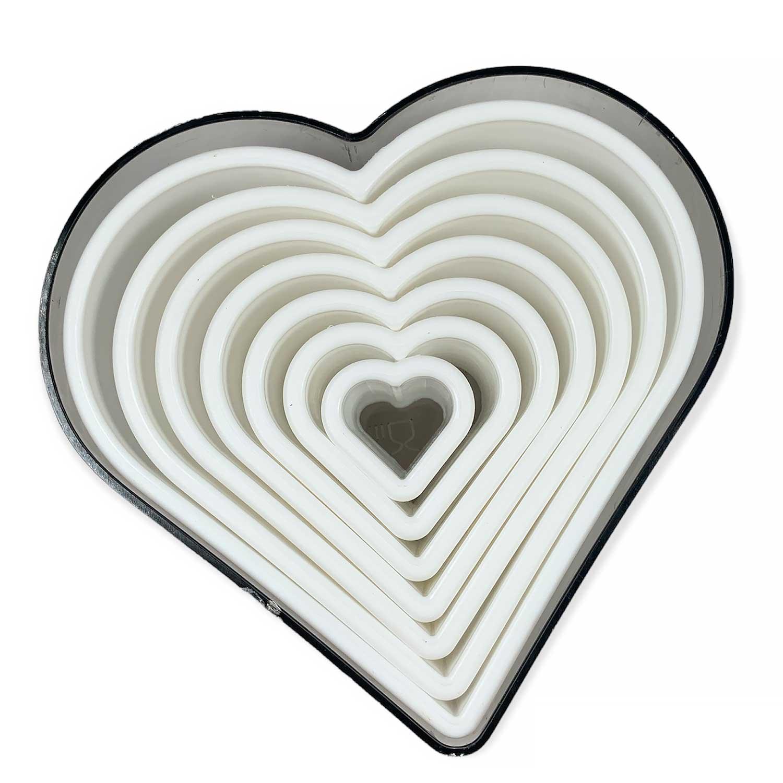 Heart Plastic Cutter Set
