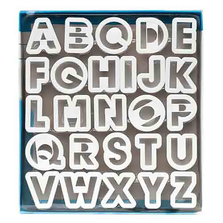 Plastic Alphabet Cookie Cutter Set