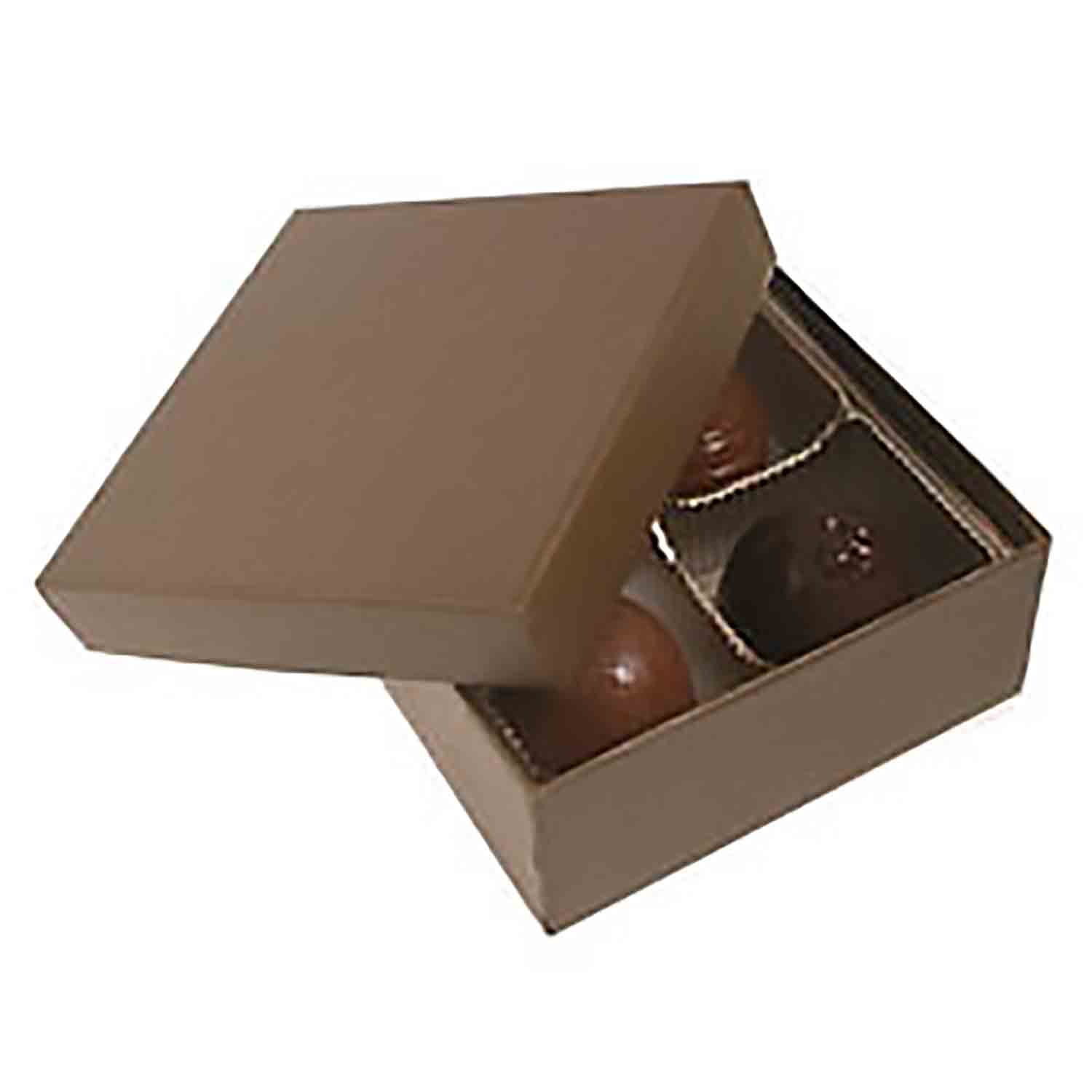4 Pc. Chocolate Brown Candy Box