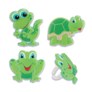 Turtle, Frog, and Gecko Rings