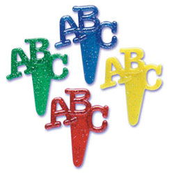"Picks- ""ABC"" Glitter"