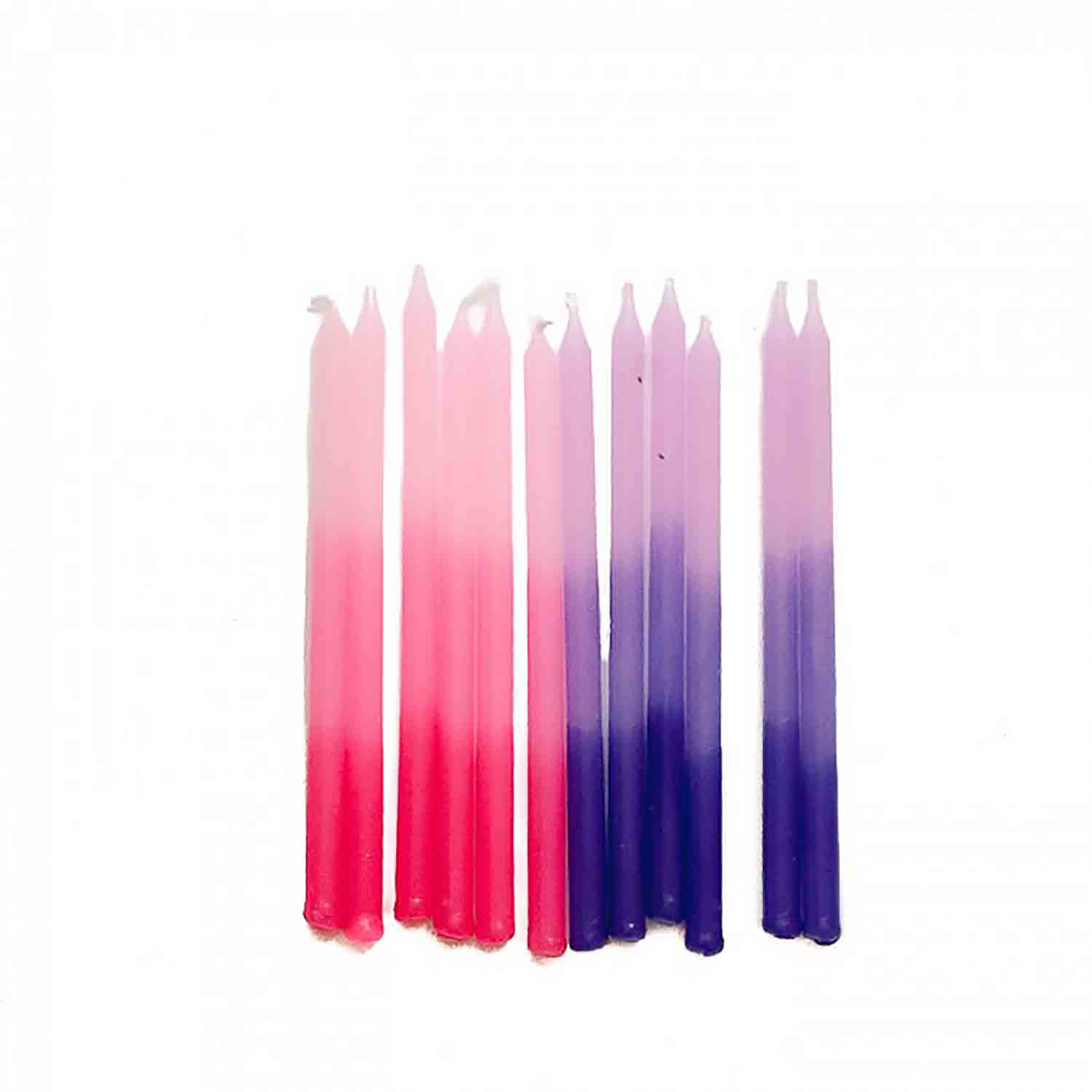 Pink and Purple Ombre Candles