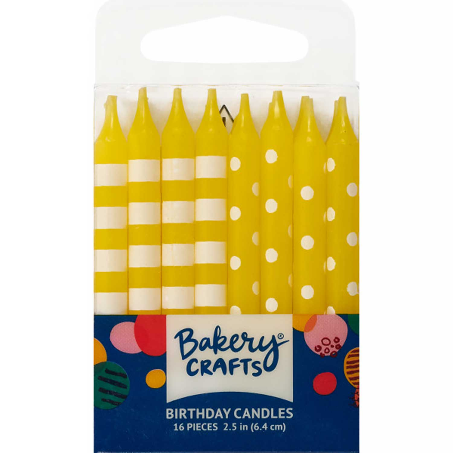 Yellow Dots and Stripes Candles