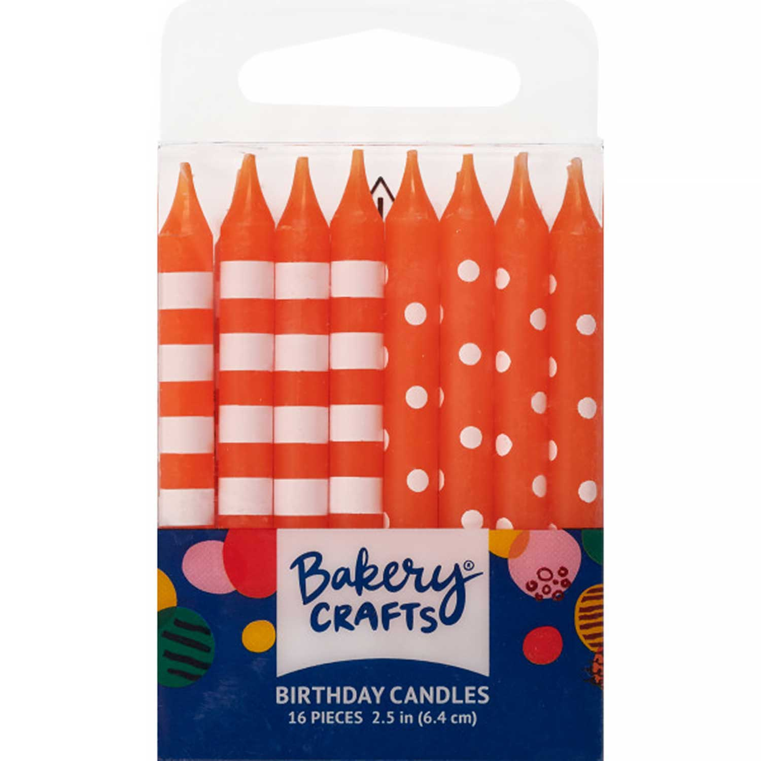Orange Dots and Stripes Candles
