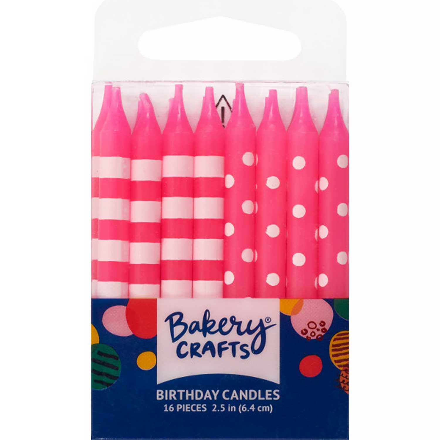 Pink Dots and Stripes Candles