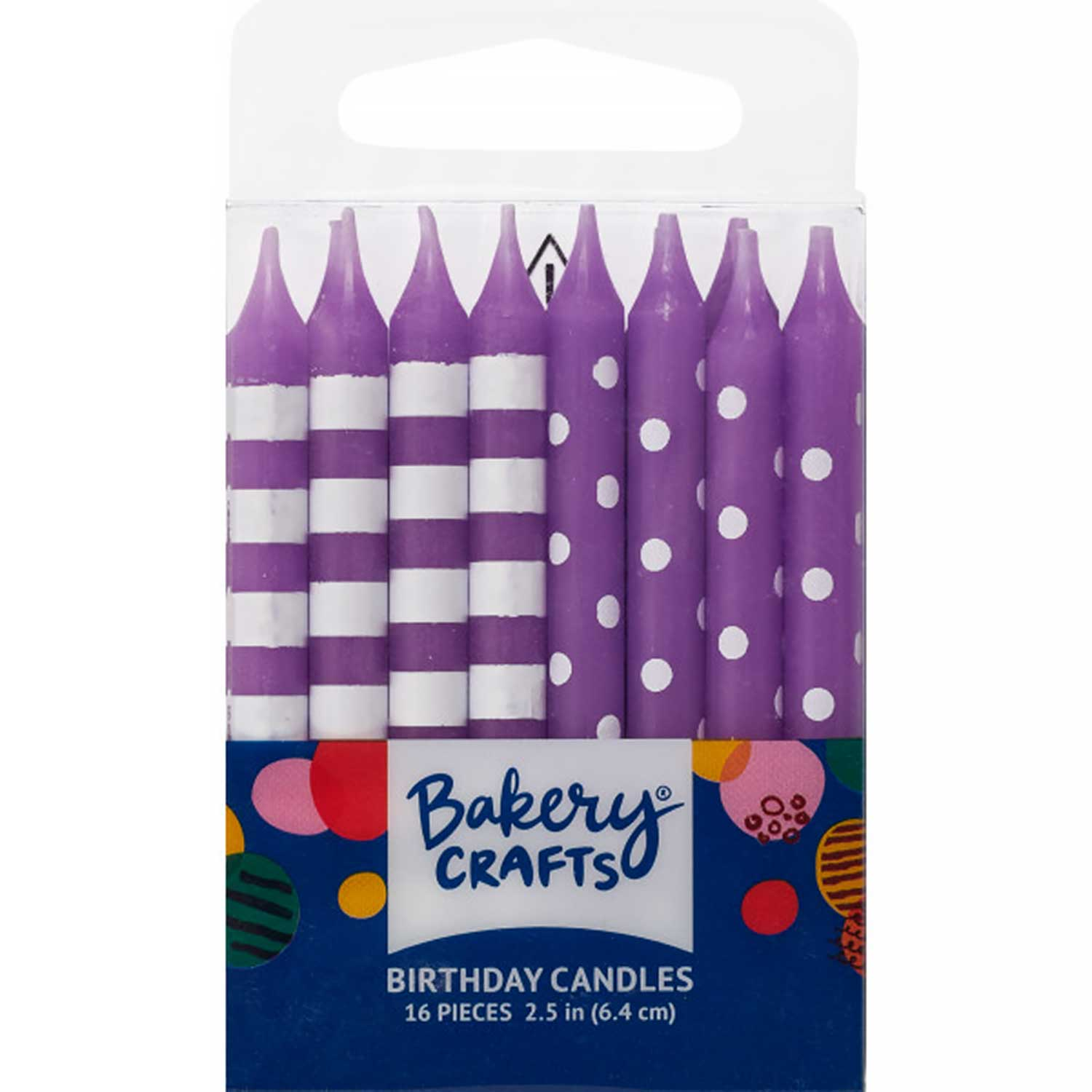 Purple Dots and Stripes Candles