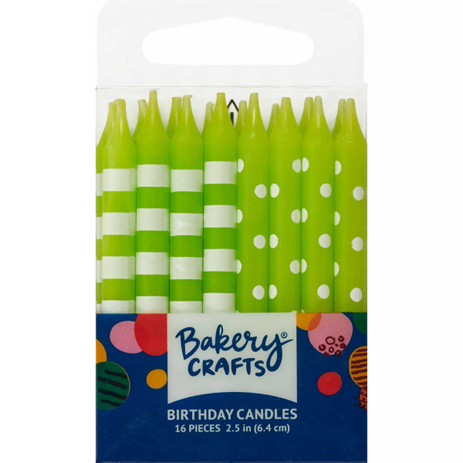 Lime Green Dots and Stripes Candles