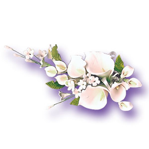 Gum Paste Spray-Medium White Calla Lily