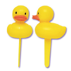 3-D Plastic Duck Picks