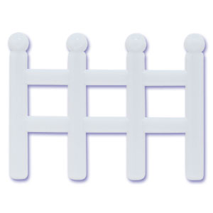 White Picket Fences Cake Toppers