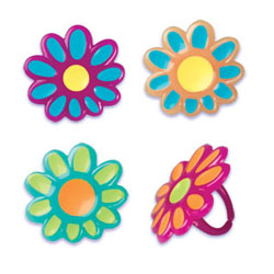 Rings- Flower Puffy Jewel