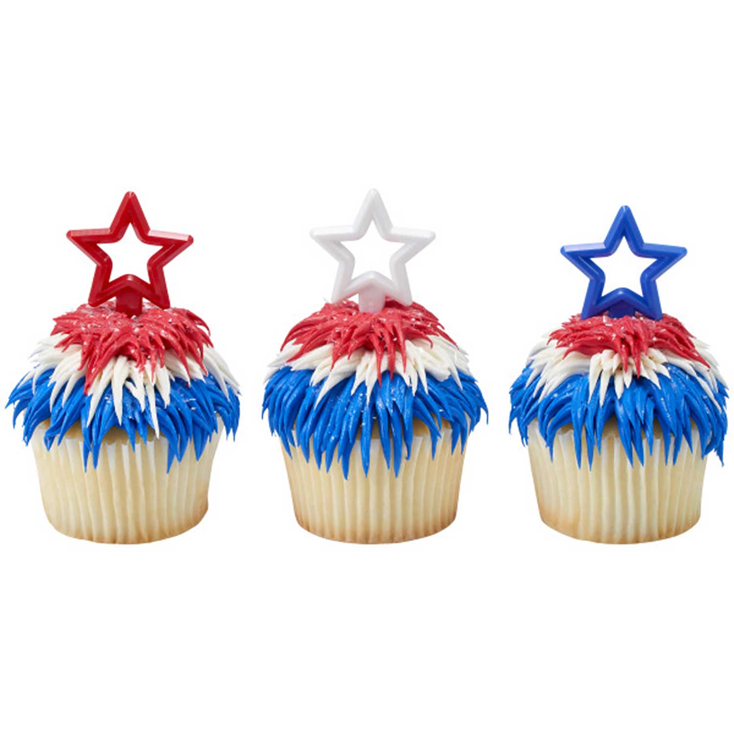 Red, White, & Blue Stars Silhouette Picks