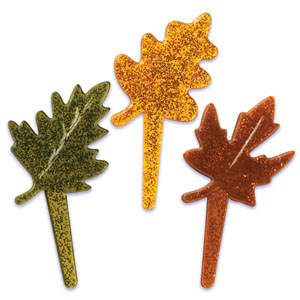 Fall Leaves Assortment- Glitter