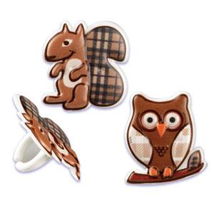 Rings - Squirrel & Owl