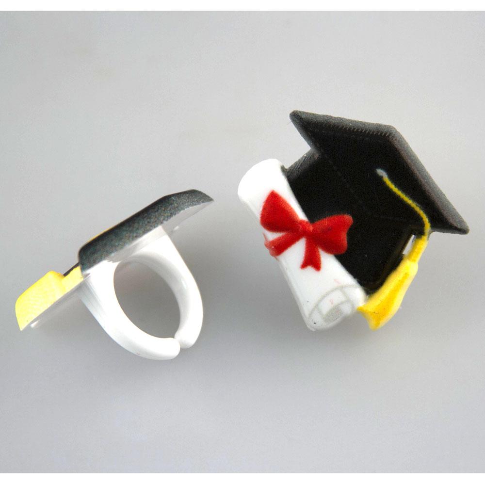 Grad Hat w/ Diploma Rings