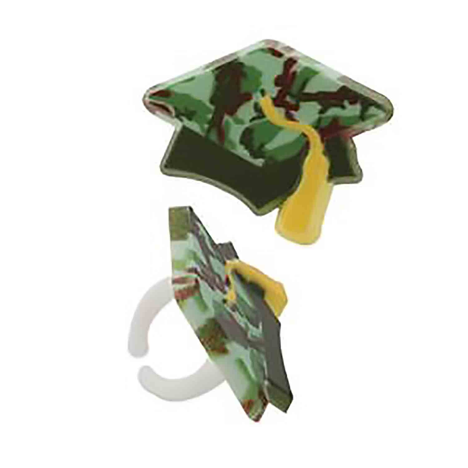 Camo Graduation Hat Rings