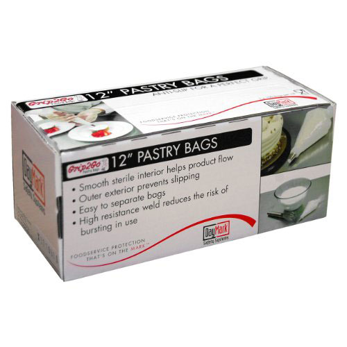 "12"" Disposable Anti-Slip Pastry Bags on Roll"