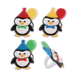 Birthday Party Penguin Rings