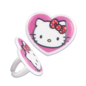 Rings - Heart Shaped Hello Kitty