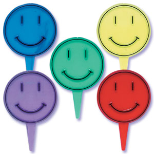 Transparent Smiley Face Picks
