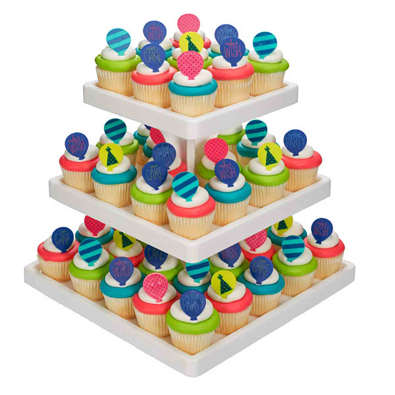 Square Stand - Single Use 3-Tier Treat Tree
