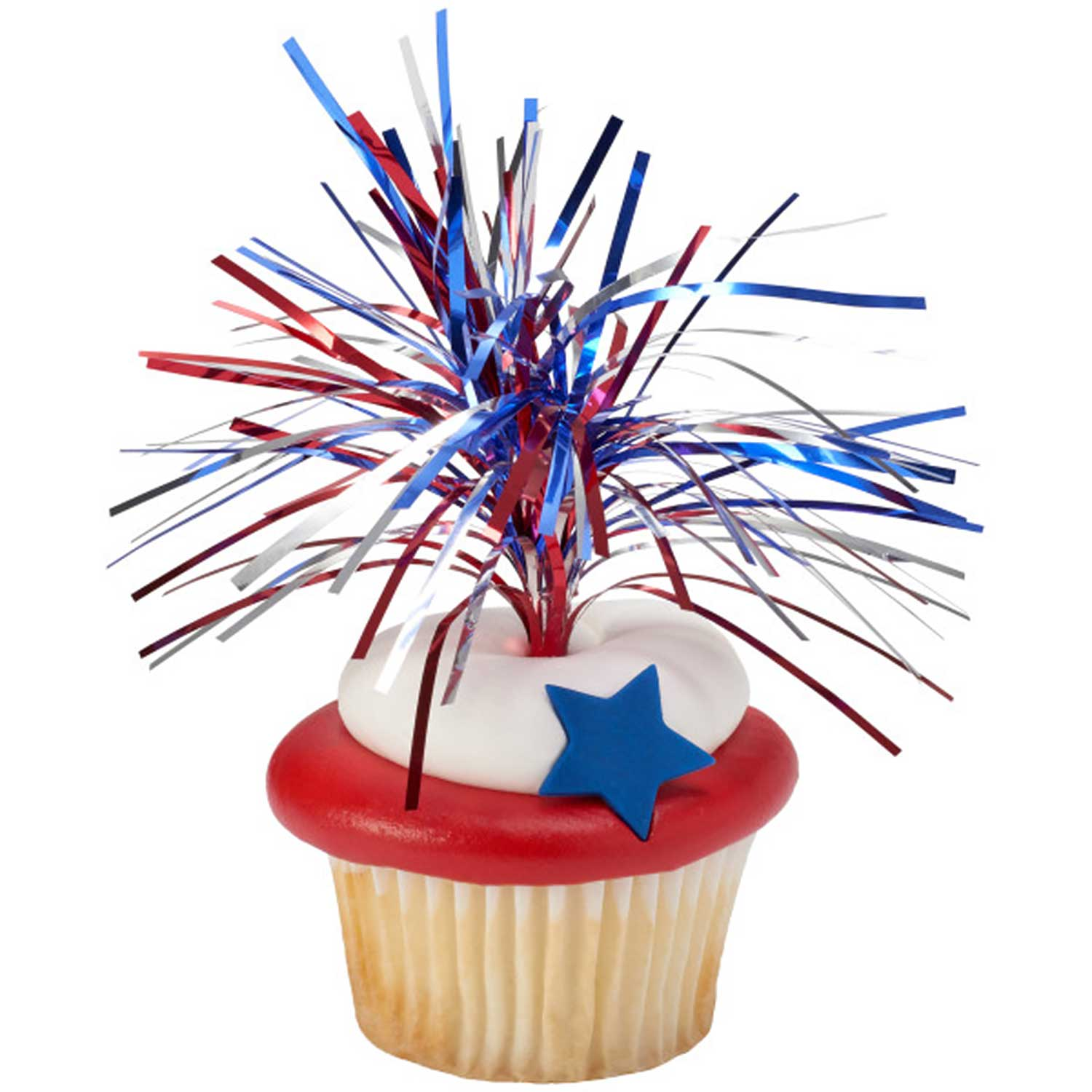 Red, Silver & Blue Tinsel Picks
